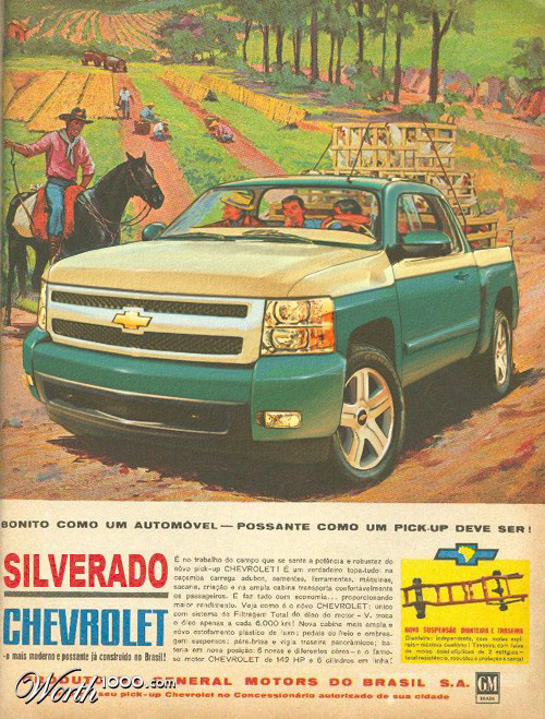 chevrolet silverado Vintage Advertisement of Modern Technology