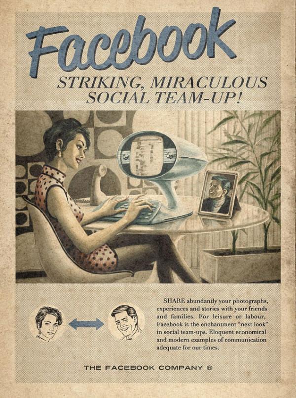 facebook Vintage Advertisement of Modern Technology