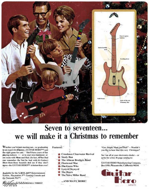 guitar hero Vintage Advertisement of Modern Technology
