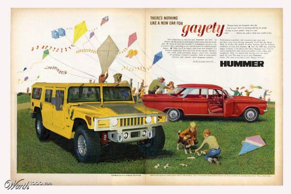 hummer Vintage Advertisement of Modern Technology
