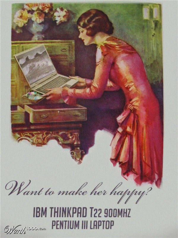 ibm thinkpad t22 Vintage Advertisement of Modern Technology