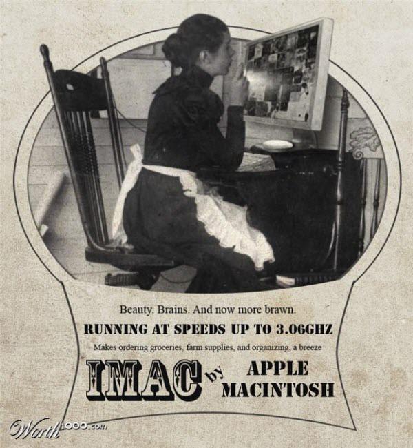 imac Vintage Advertisement of Modern Technology
