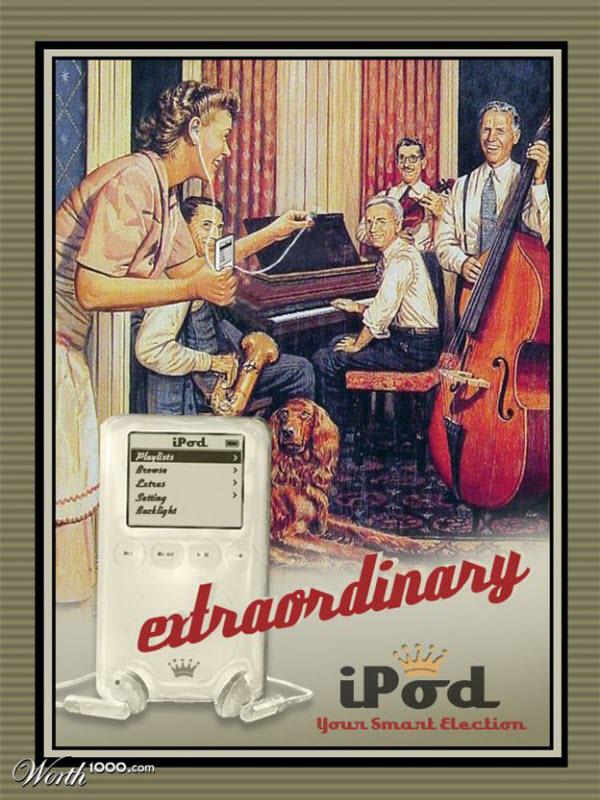 ipod Vintage Advertisement of Modern Technology