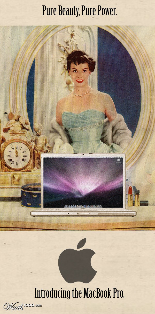macbook pro Vintage Advertisement of Modern Technology