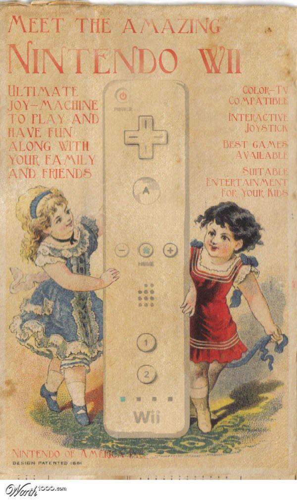 nintendo wii Vintage Advertisement of Modern Technology