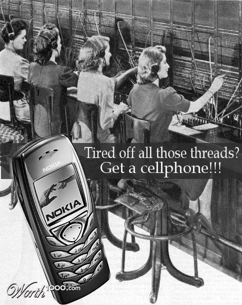 nokia cellphone Vintage Advertisement of Modern Technology