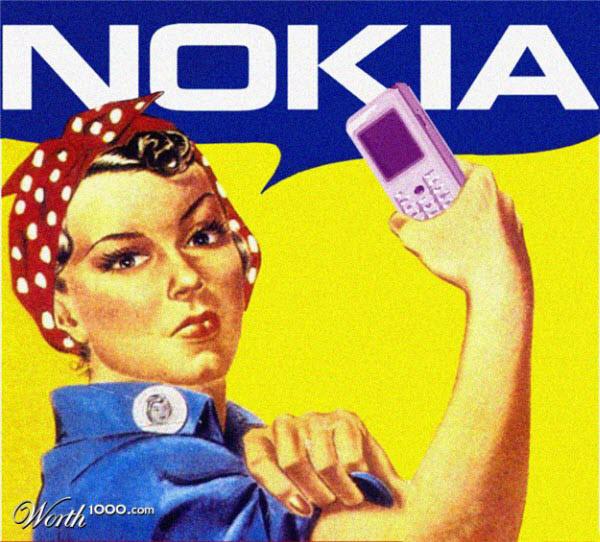 nokia Vintage Advertisement of Modern Technology
