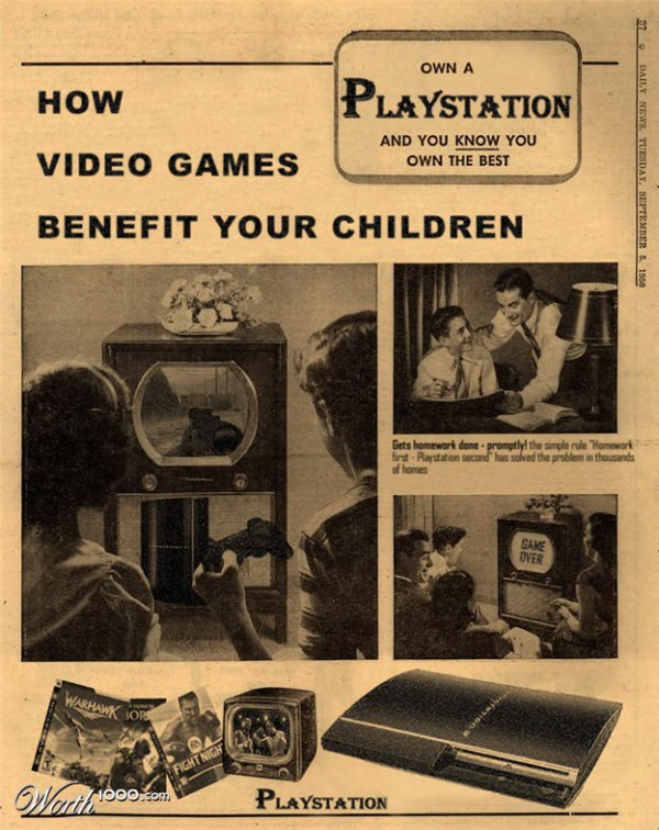 playstation 3 Vintage Advertisement of Modern Technology