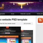 20 WEBS: descargar .PSD gratis