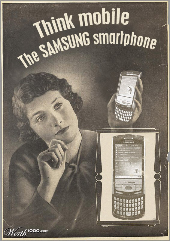 samsung smartphone Vintage Advertisement of Modern Technology