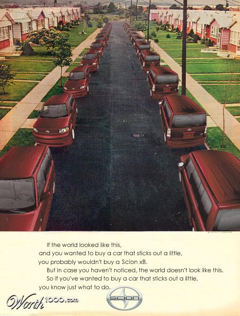 scion Vintage Advertisement of Modern Technology