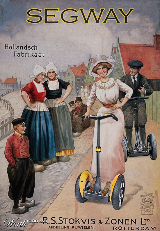 segway Vintage Advertisement of Modern Technology