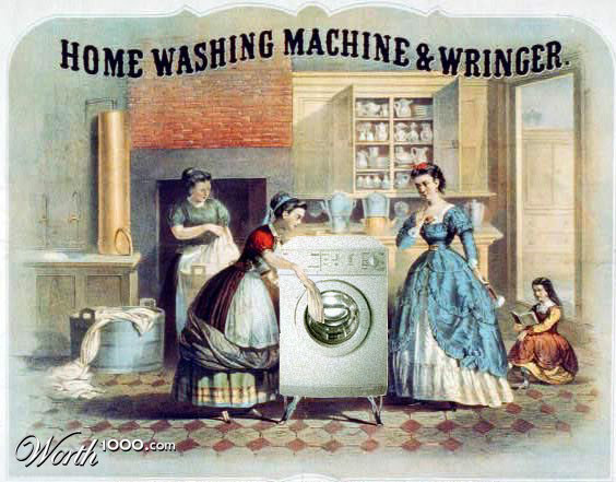 washing machine Vintage Advertisement of Modern Technology