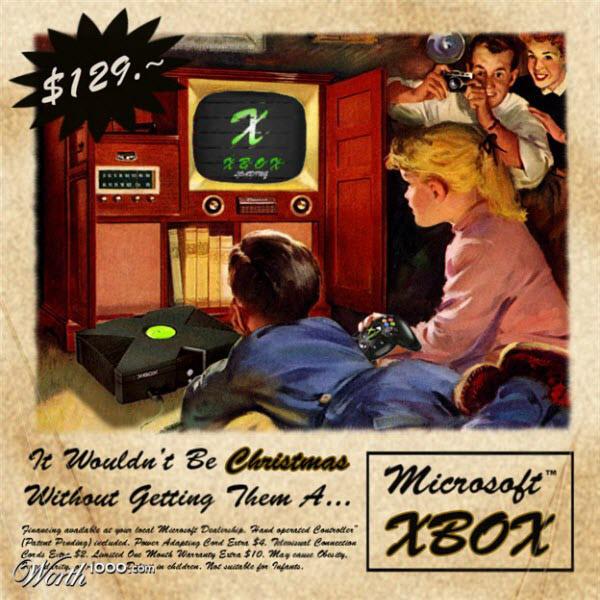 xbox Vintage Advertisement of Modern Technology