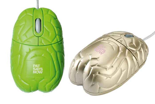 gold brain Unusual Computer Mice You Probably Havent Seen Before