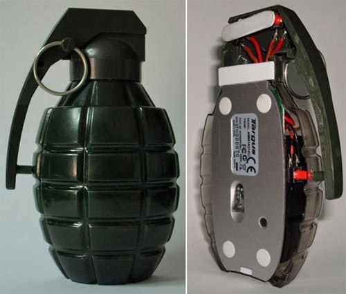 grenade mouse Unusual Computer Mice You Probably Havent Seen Before