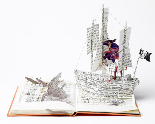 The Pirate Ship Masters of Paper Art and Paper Sculptures