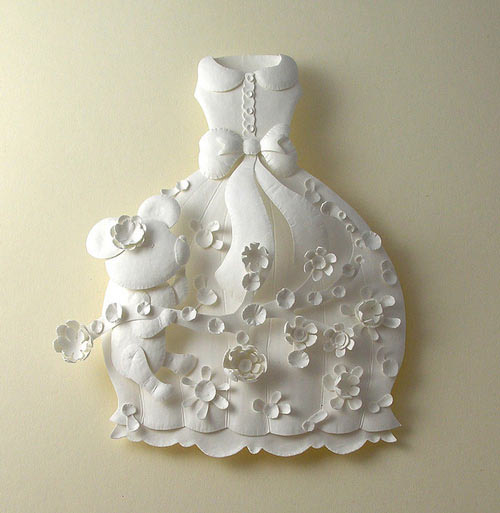 dress teddy bear Masters of Paper Art and Paper Sculptures, Part II