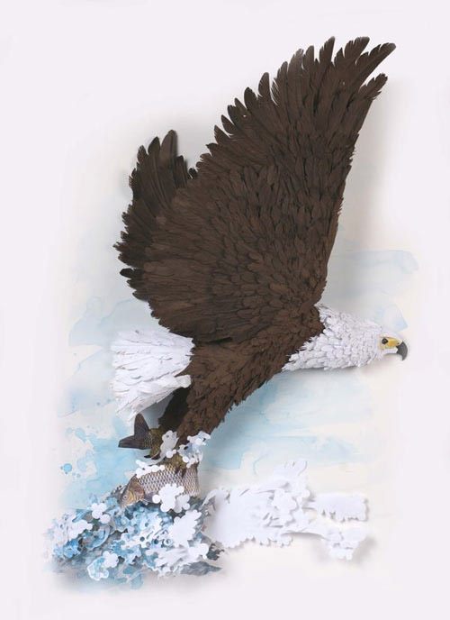 fish eagle Masters of Paper Art and Paper Sculptures, Part II