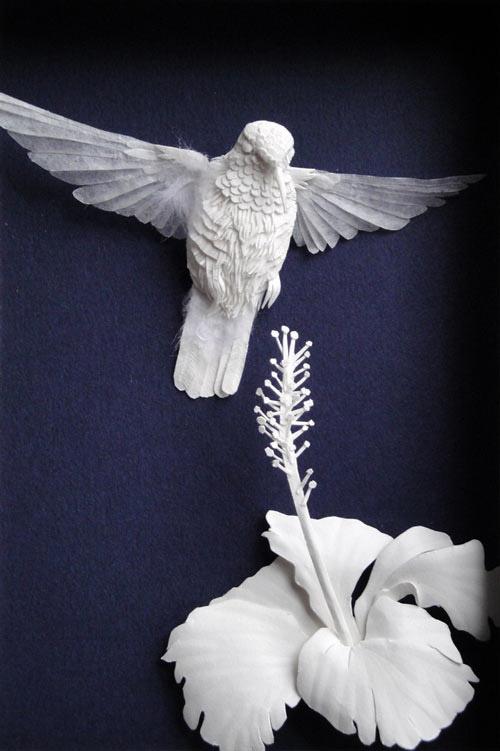 hummer hibiscus Masters of Paper Art and Paper Sculptures, Part II