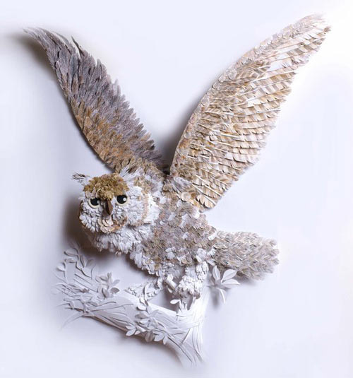 illustrated owl Masters of Paper Art and Paper Sculptures, Part II