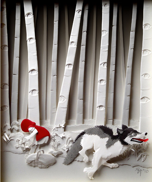red riding hood Masters of Paper Art and Paper Sculptures, Part II