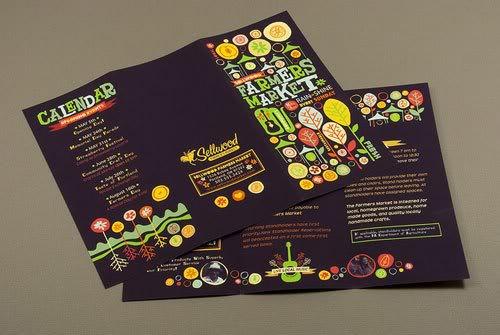 Graphic Farmers Market Brochure Print Inspiration