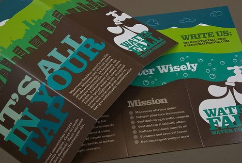 Graphic Water Company Brochure Print Inspiration