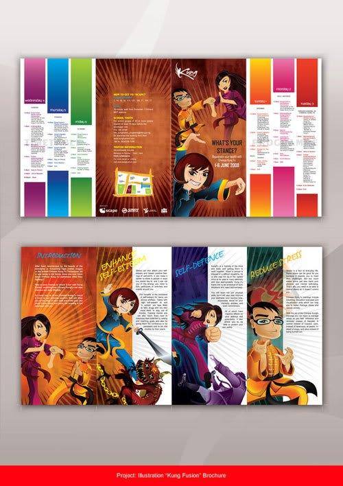 Kung Fusion Brochure Print Inspiration