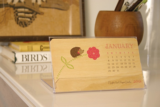 illustrated landscape wood pages calendar night owl paper goods