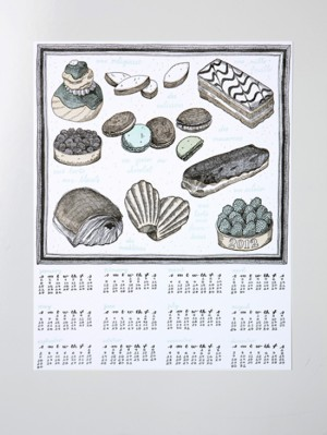 whimsical illustrated letterpressed year calendar sycamore street press 300x399