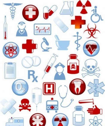 chef, Collection, medical, icons, warning, signs