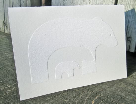 Ink Wit Holiday Polar Bear Card 550x421 2011 Holiday Card Round Up, Part 6