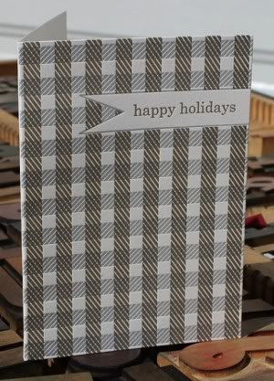 Flywheel Press Holiday Card Gingham 300x417 2011 Holiday Card Round Up, Part 4