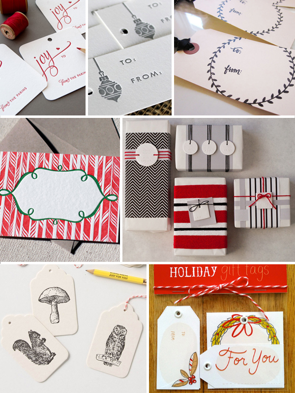 Gift Tag Ideas Inspiration1 Holiday Gift Wrap Inspiration, Part 4