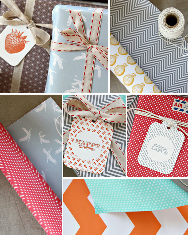 Holiday Gift Wrap Ideas Inspiration Pattern Bespoke Letterpress Holiday Gift Wrap Inspiration, Part 1