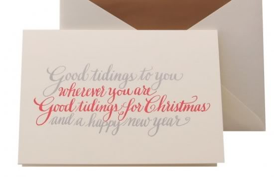 Winged Wheel Calligraphy Holiday Cards 550x356 2011 Holiday Card Round Up, Part 4