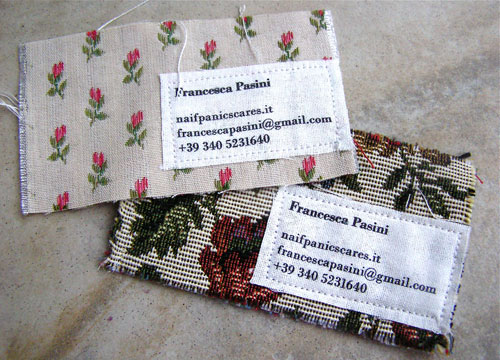 Francesca Pasini Strange Business Card