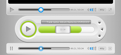 Media Player UI: Free PSD Template