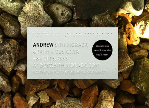 Andrew Sithimorada Strange Business Card