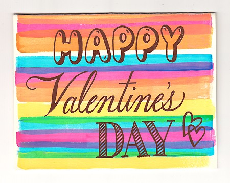 Beau Ideal Handpainted Valentines Day Card Valentines Day Cards, Part 1