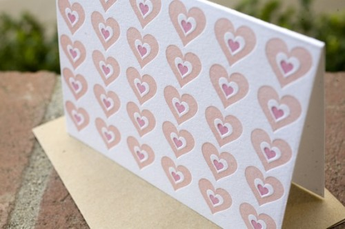 Bon Vivant Press Hearts Valentines Day Card 500x332 Valentines Day Cards, Part 1