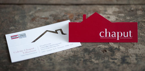 Chaput Real Estate Strange Business Card