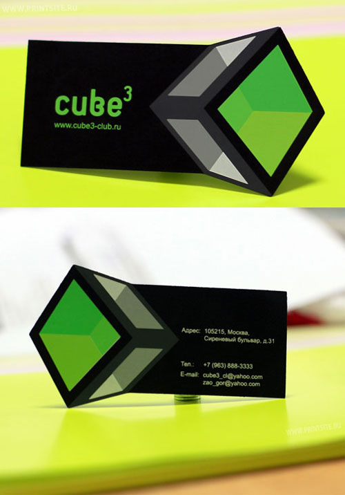 Cube 3 Club Strange Business Card