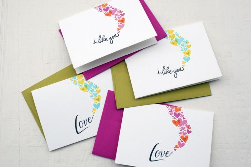 Ephemera Press Heart Love Notes Cards 500x333 Valentines Day Cards, Part 1
