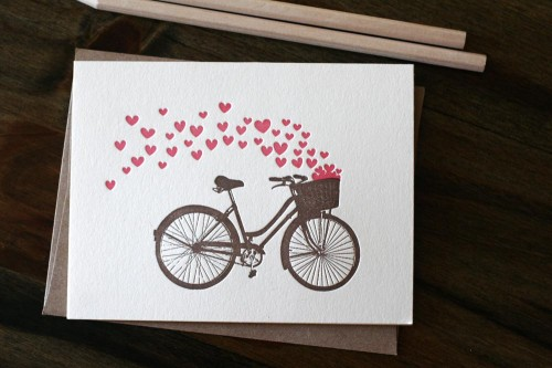 Papersheep Bicycle Valentine Card 500x333 Valentines Day Cards, Part 1