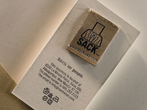 Sack Wear Strange Business Card
