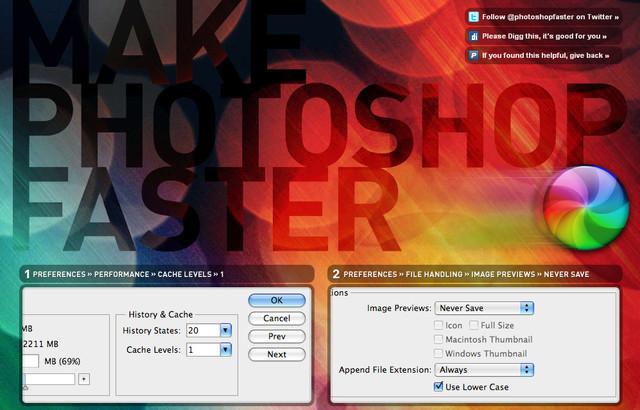 Hacer que Photoshop más rápido