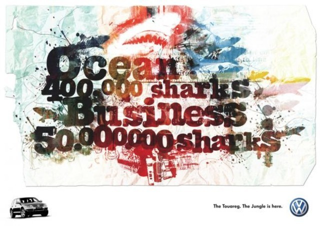 Publicidad Impresa - Volkswagen Touareg: Tiburones