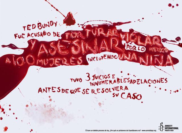 Publicidad Impresa - Amnistía Internacional: Ted Bundy